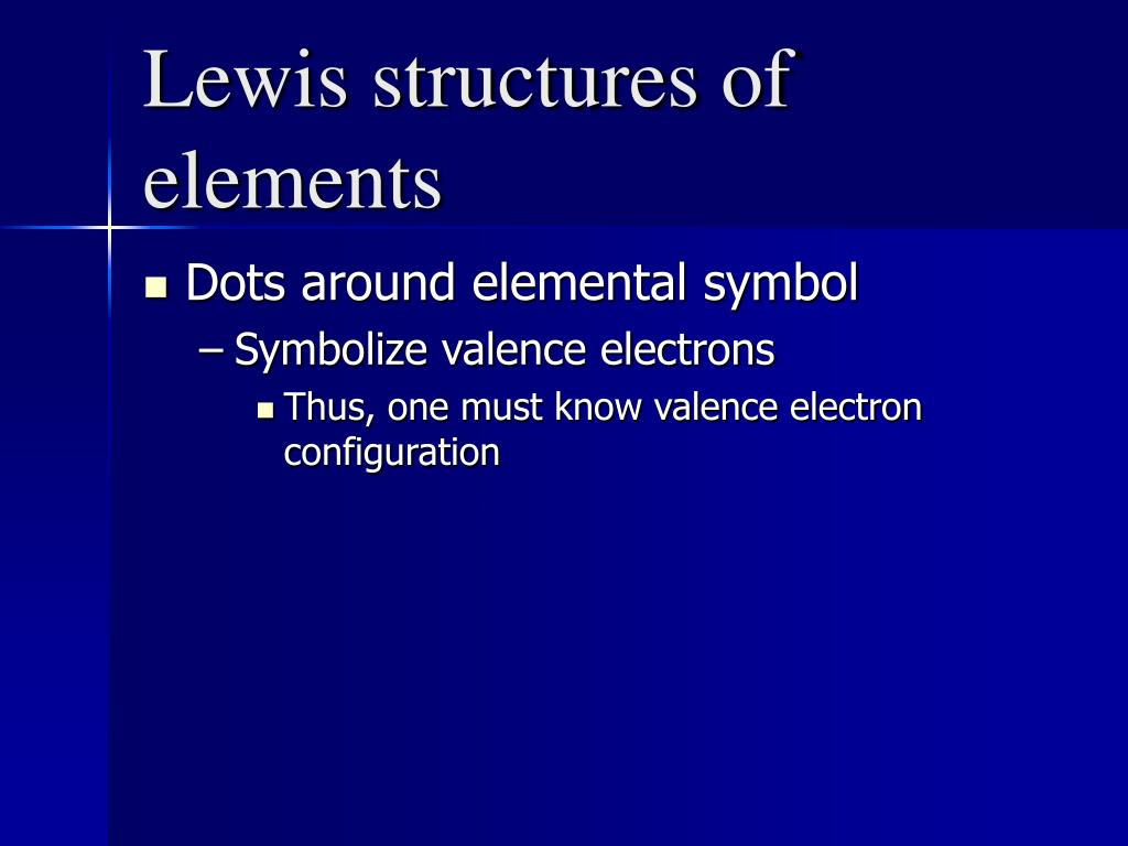 Lewis structures of elements