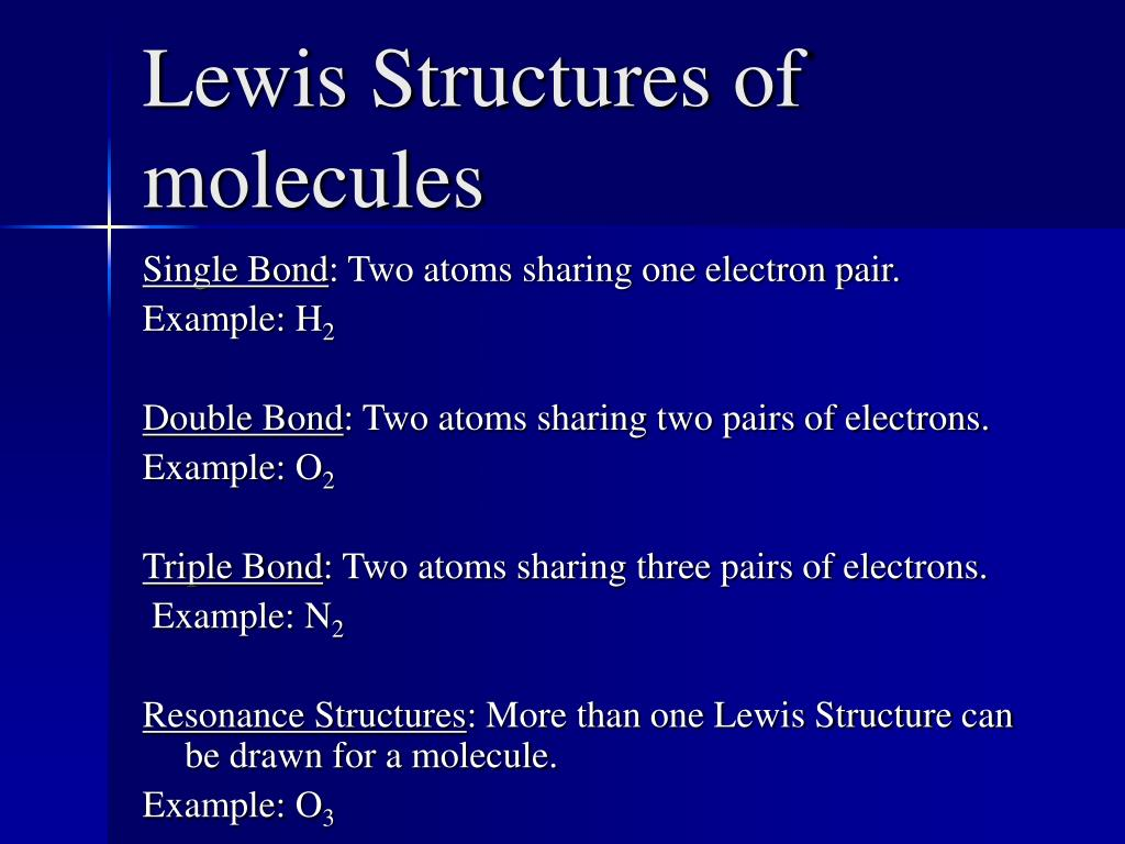 Lewis Structures of molecules