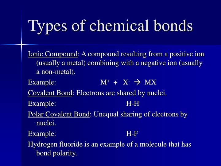 Types of chemical bonds2