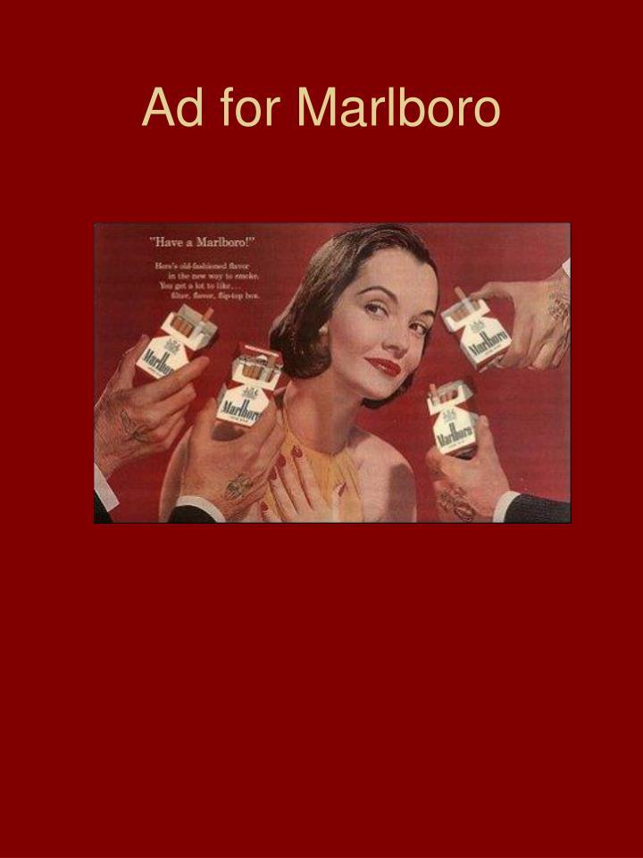 Ad for Marlboro