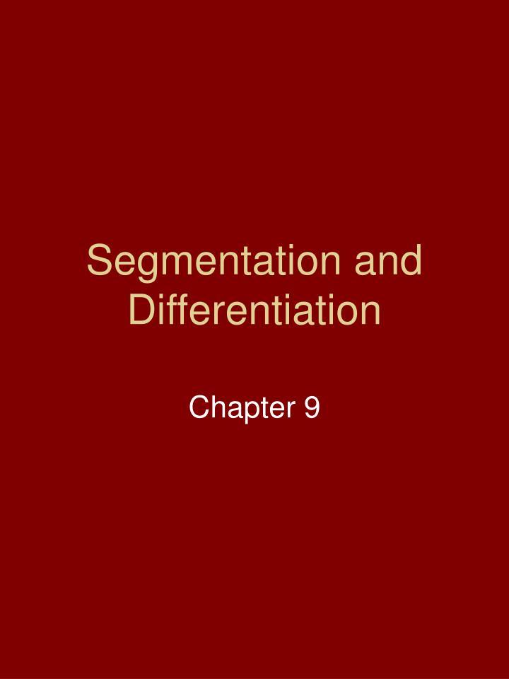 Segmentation and Differentiation