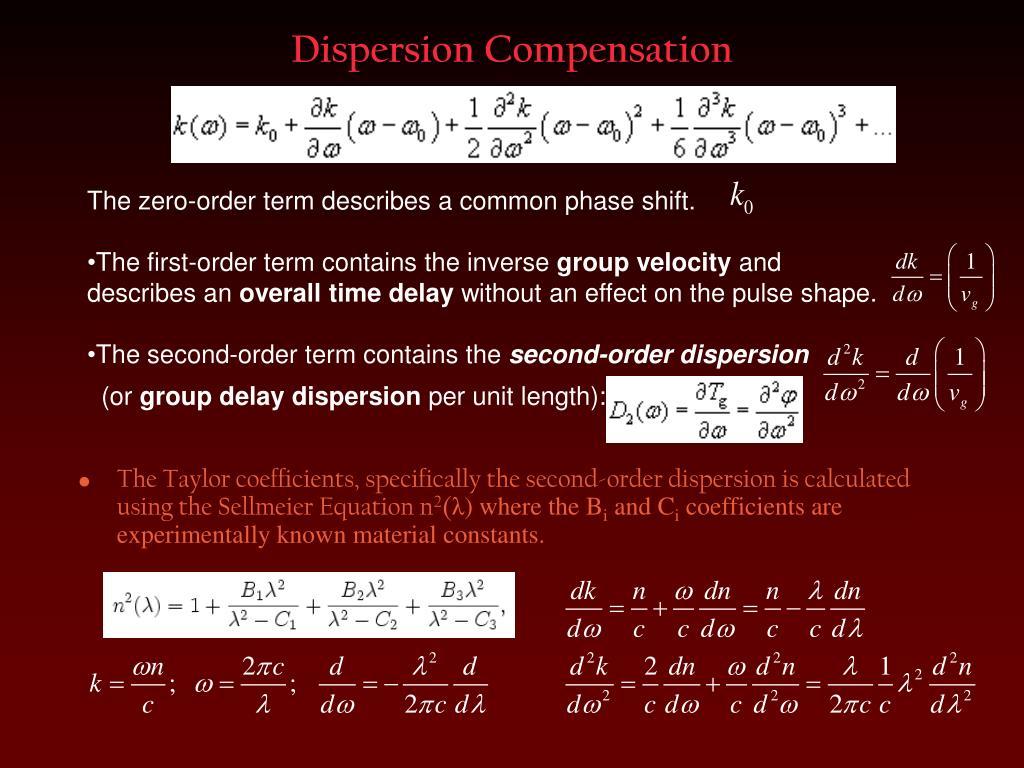 Dispersion Compensation