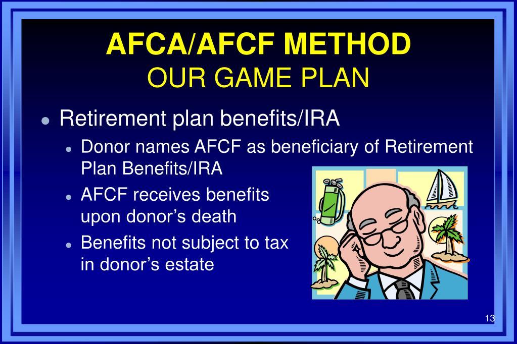 AFCA/AFCF METHOD