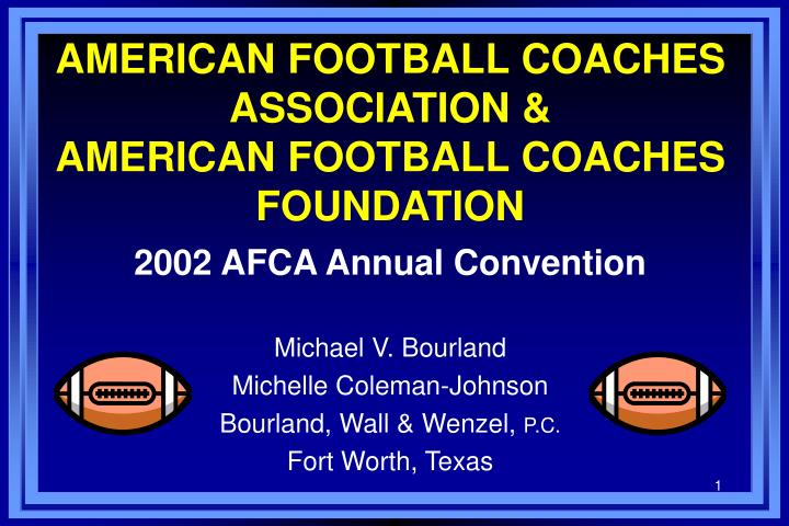 American football coaches association american football coaches foundation
