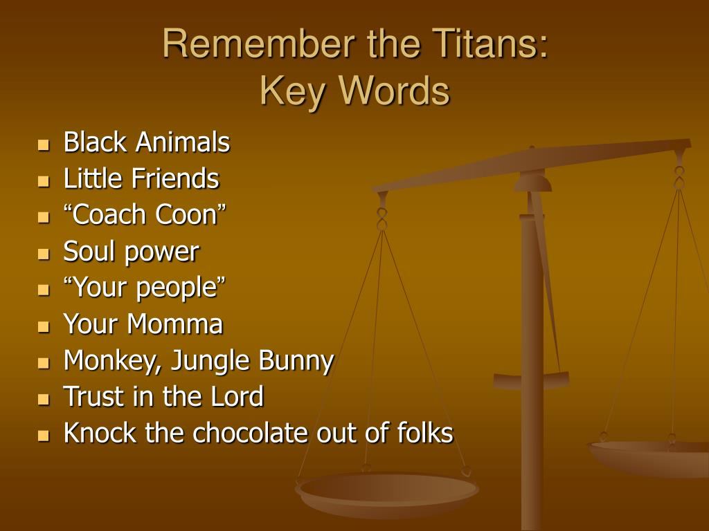 Remember the Titans: