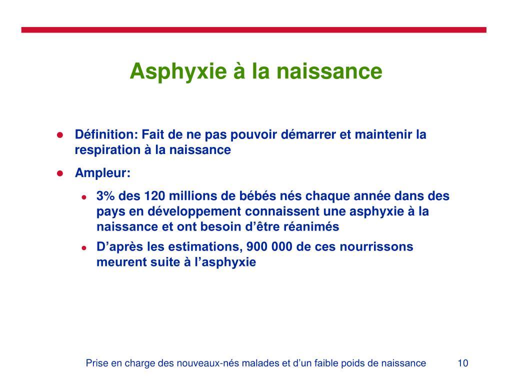 Asphyxie à la naissance