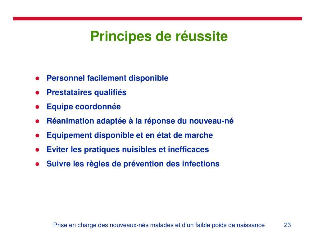Principes de réussite