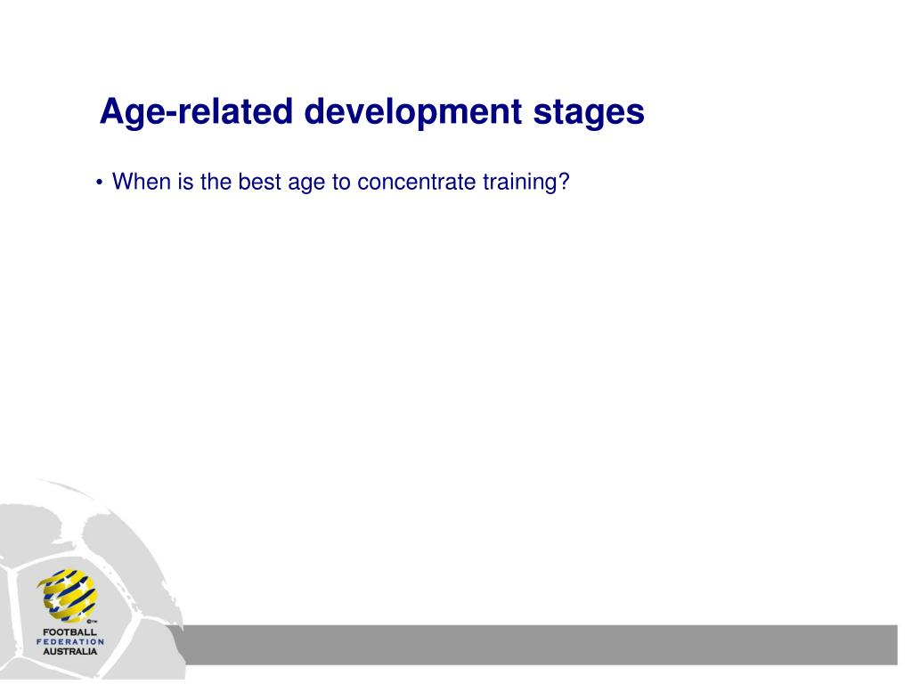 Age-related development stages