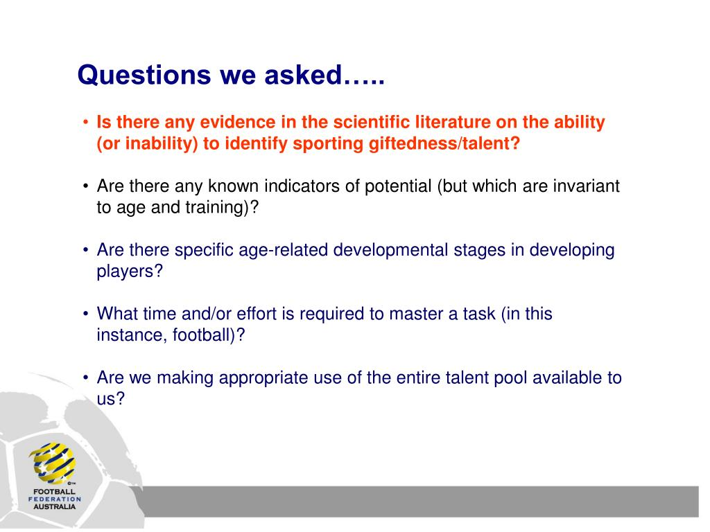 Questions we asked…..