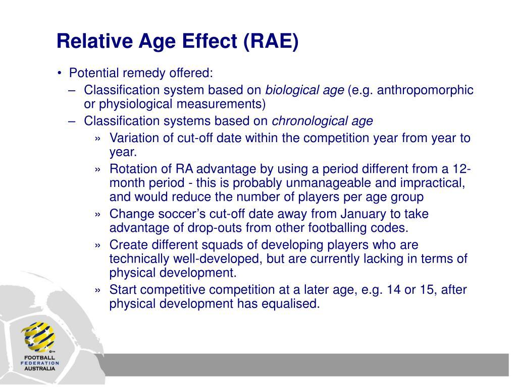 Relative Age Effect (RAE)