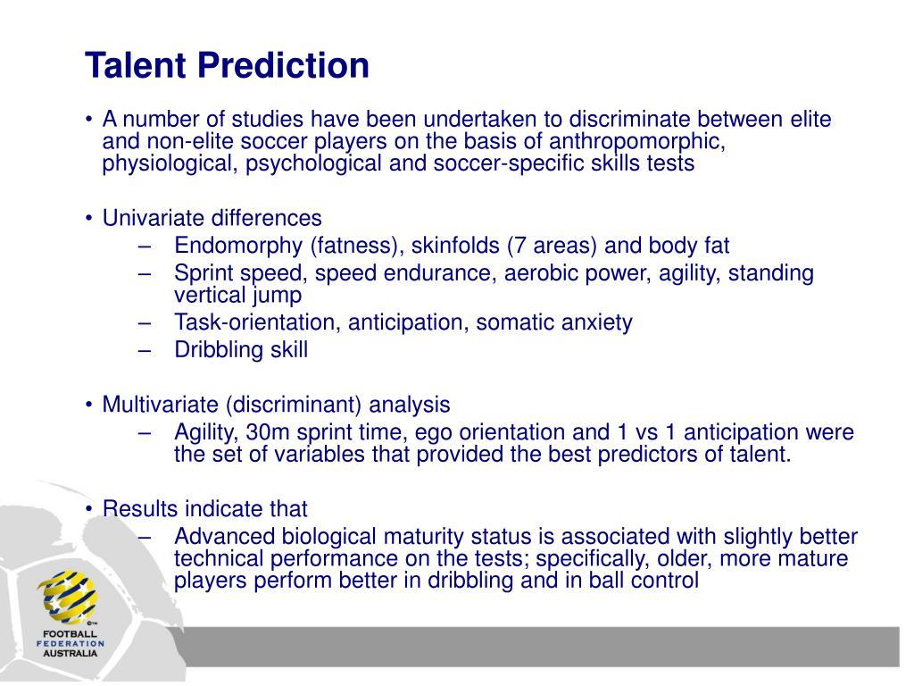 Talent Prediction
