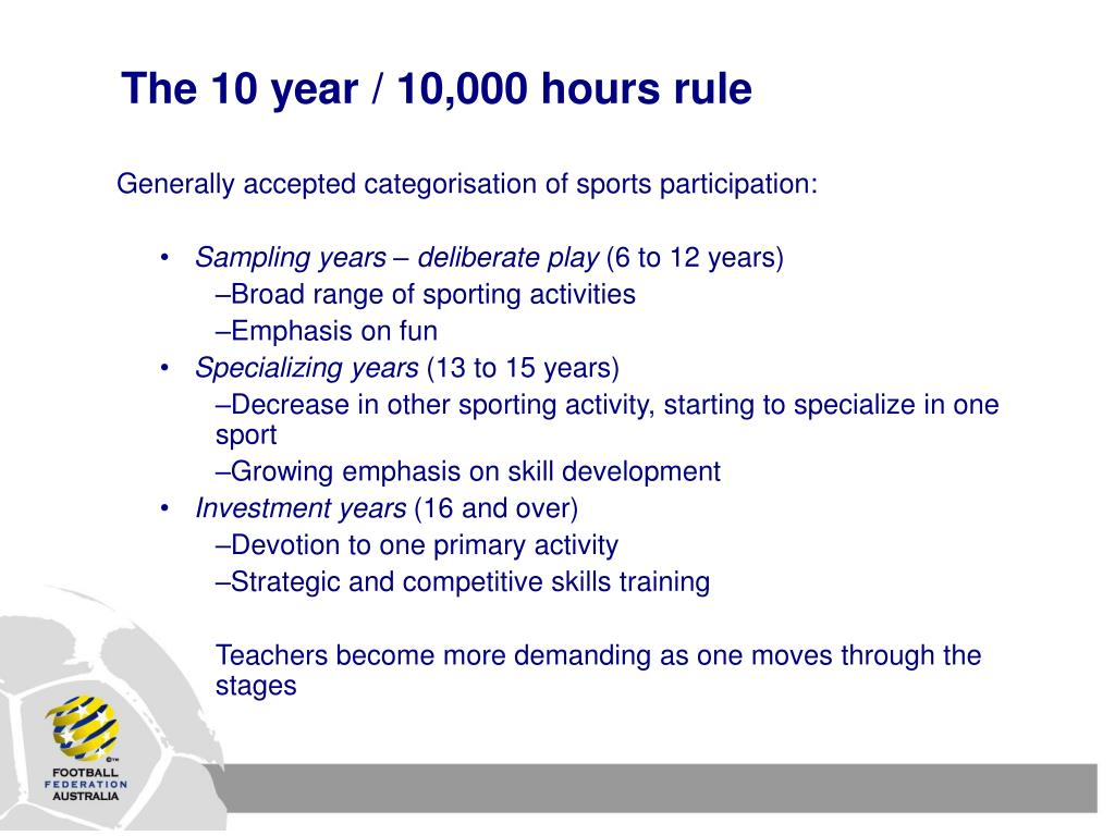 The 10 year / 10,000 hours rule
