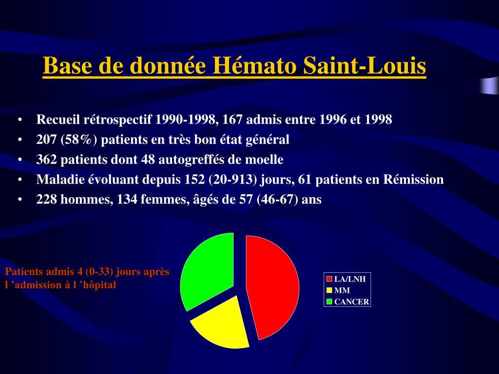 Base de donnée Hémato Saint-Louis