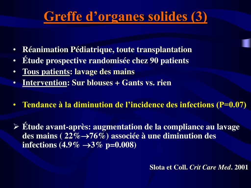 Greffe d'organes solides (3)