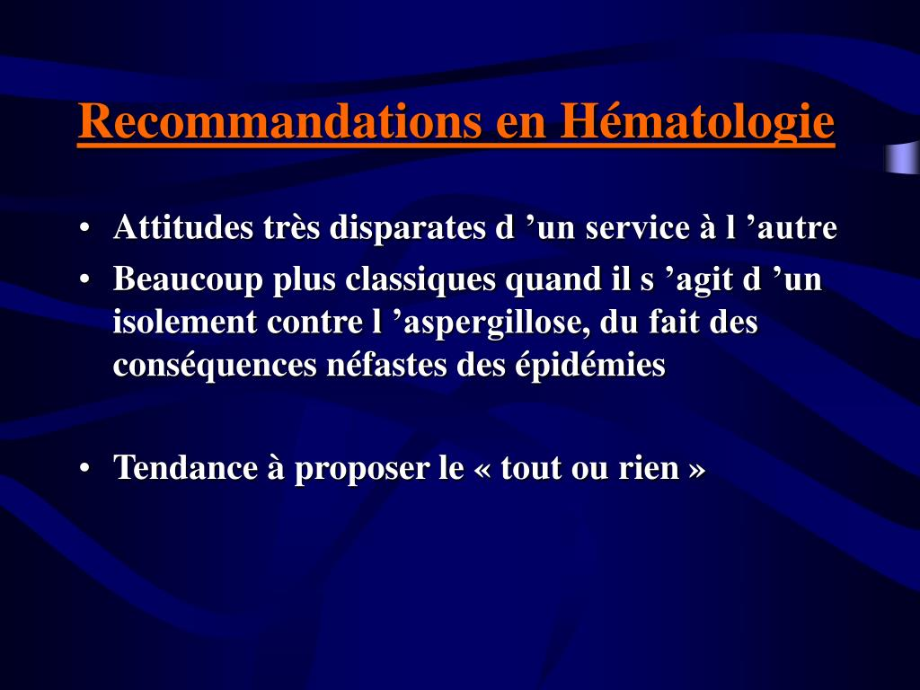 Recommandations en Hématologie