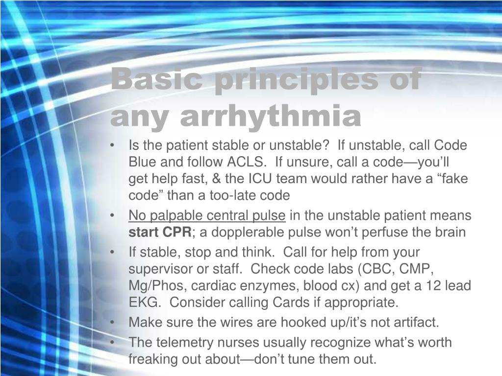 Basic principles of any arrhythmia