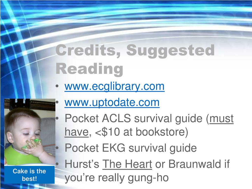 Credits, Suggested Reading