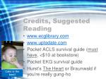 credits suggested reading