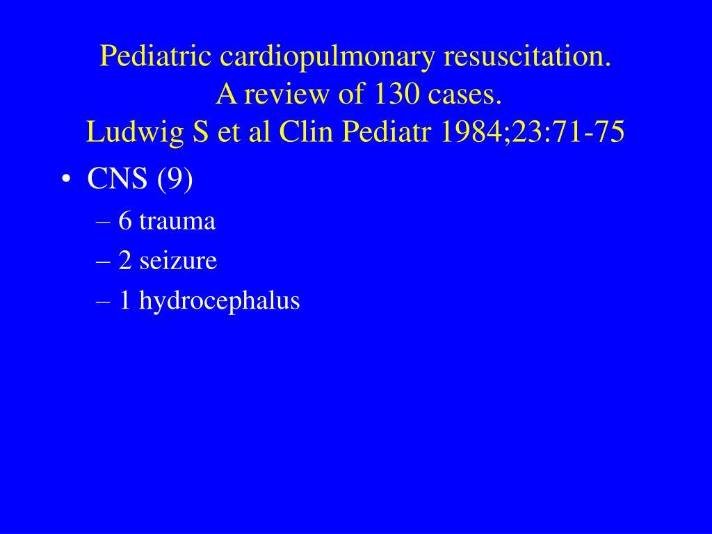 Pediatric cardiopulmonary resuscitation.