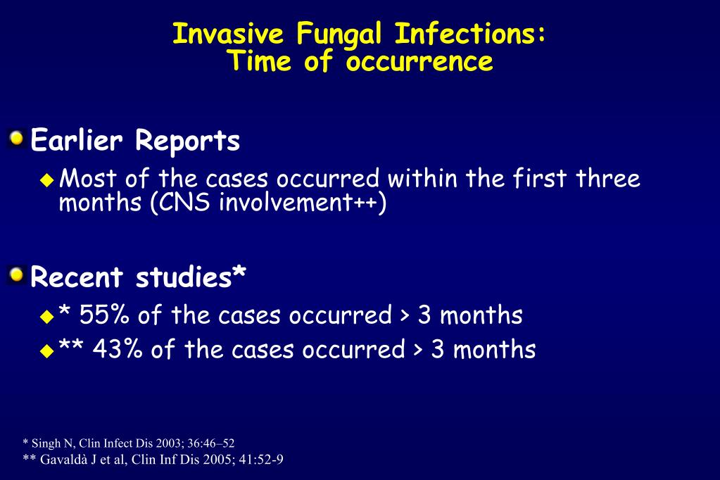 Invasive Fungal Infections: