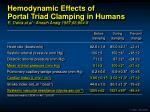 hemodynamic effects of portal triad clamping in humans e delva et al anesth analg 1987 66 864 8