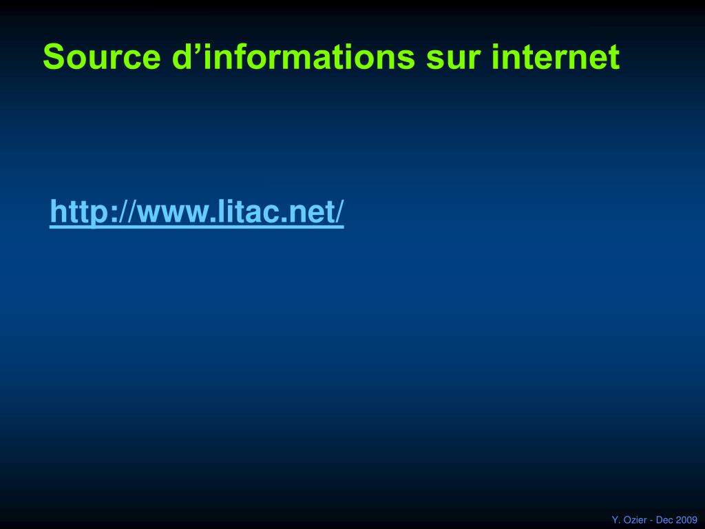 Source d'informations sur internet