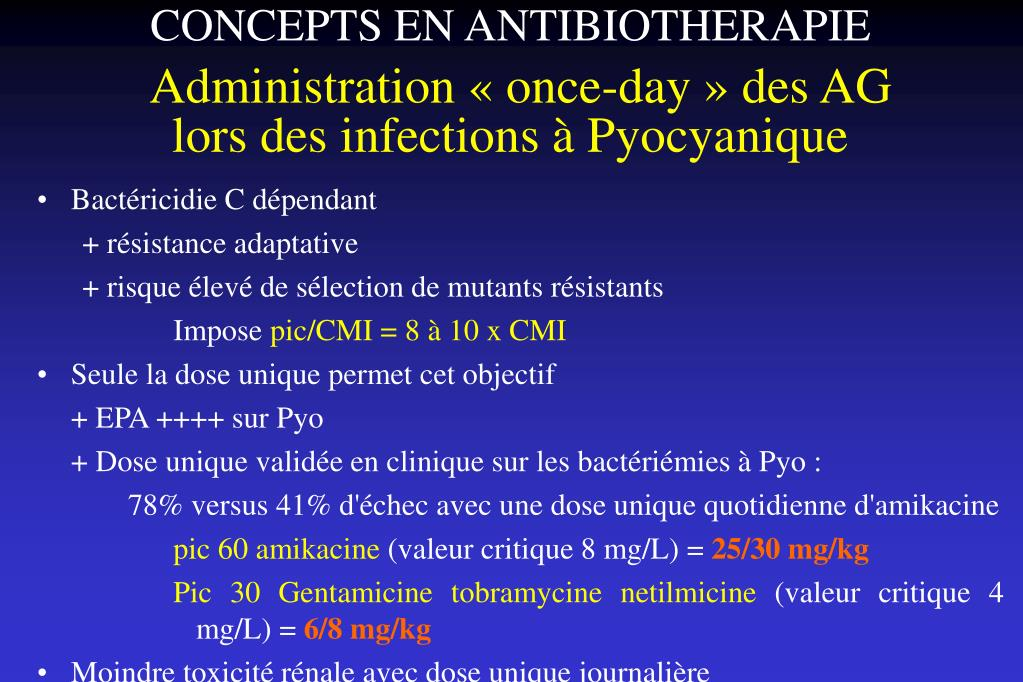 CONCEPTS EN ANTIBIOTHERAPIE
