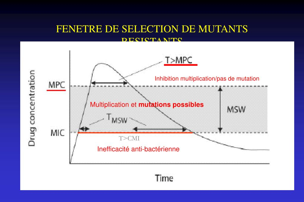 FENETRE DE SELECTION DE MUTANTS RESISTANTS