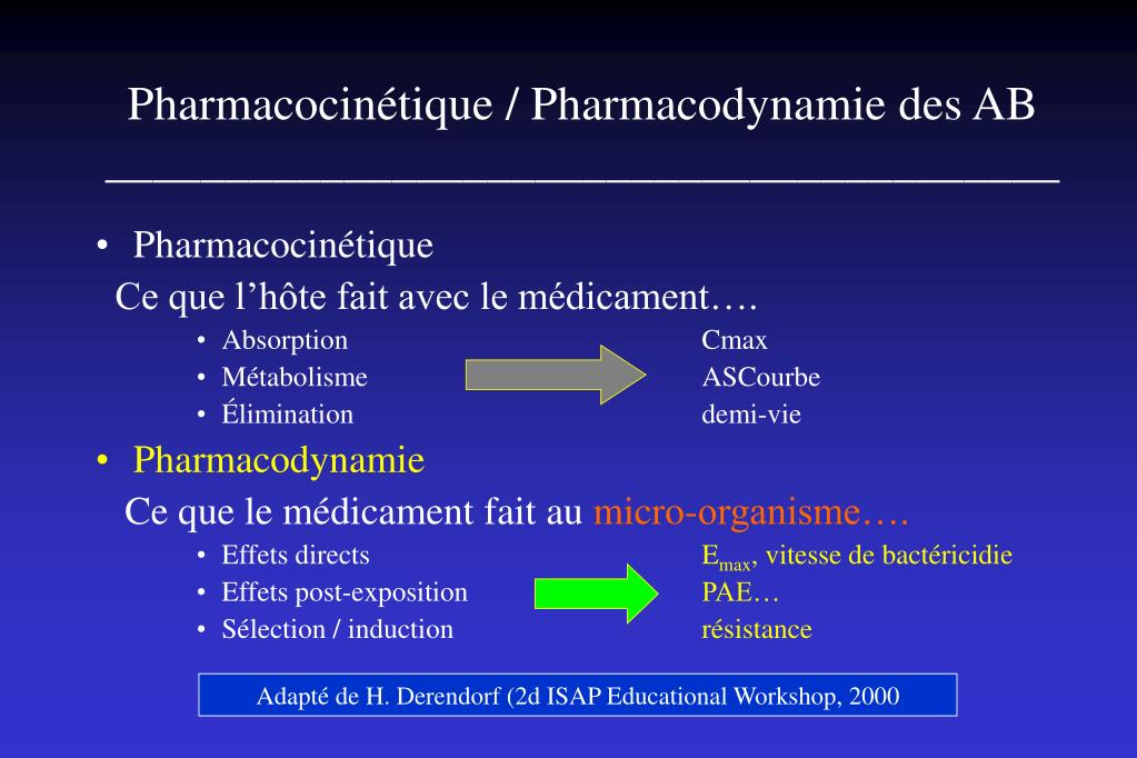 Pharmacocinétique / Pharmacodynamie des AB