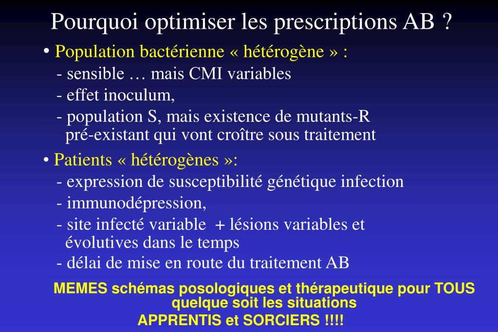 Pourquoi optimiser les prescriptions AB ?