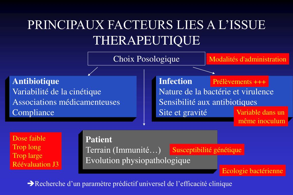PRINCIPAUX FACTEURS LIES A L'ISSUE THERAPEUTIQUE