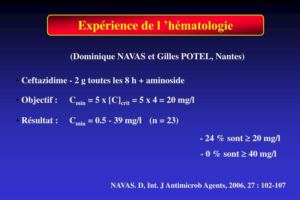 Expérience de l'hématologie