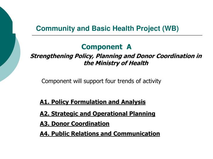 Community and basic health project wb