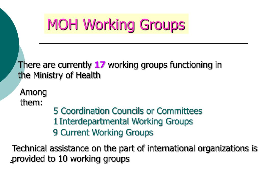 MOH Working Groups