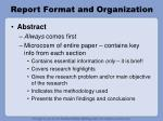 report format and organization2