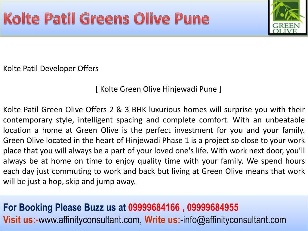 Kolte Patil Greens Olive Pune