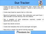 due tracker