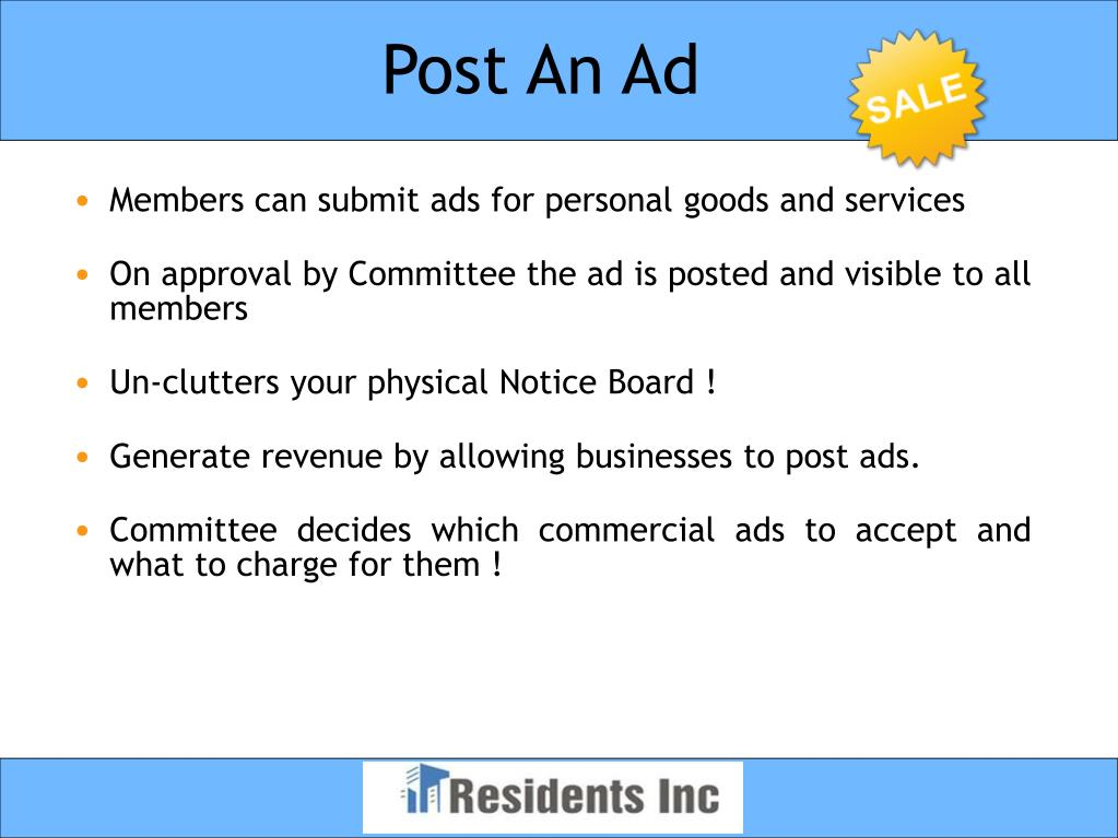 Post An Ad