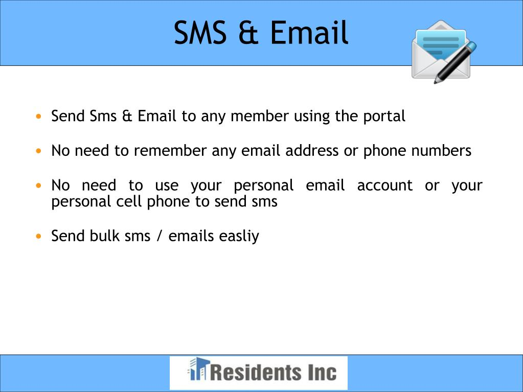 SMS & Email