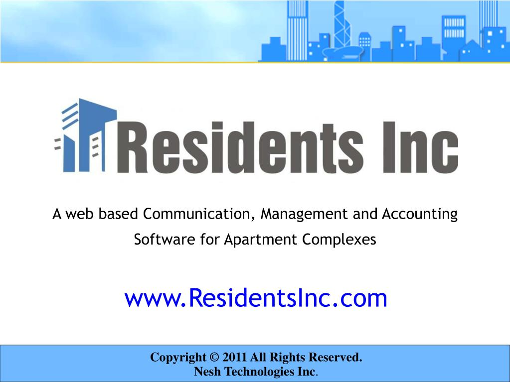 A web based Communication, Management and Accounting Software for Apartment Complexes