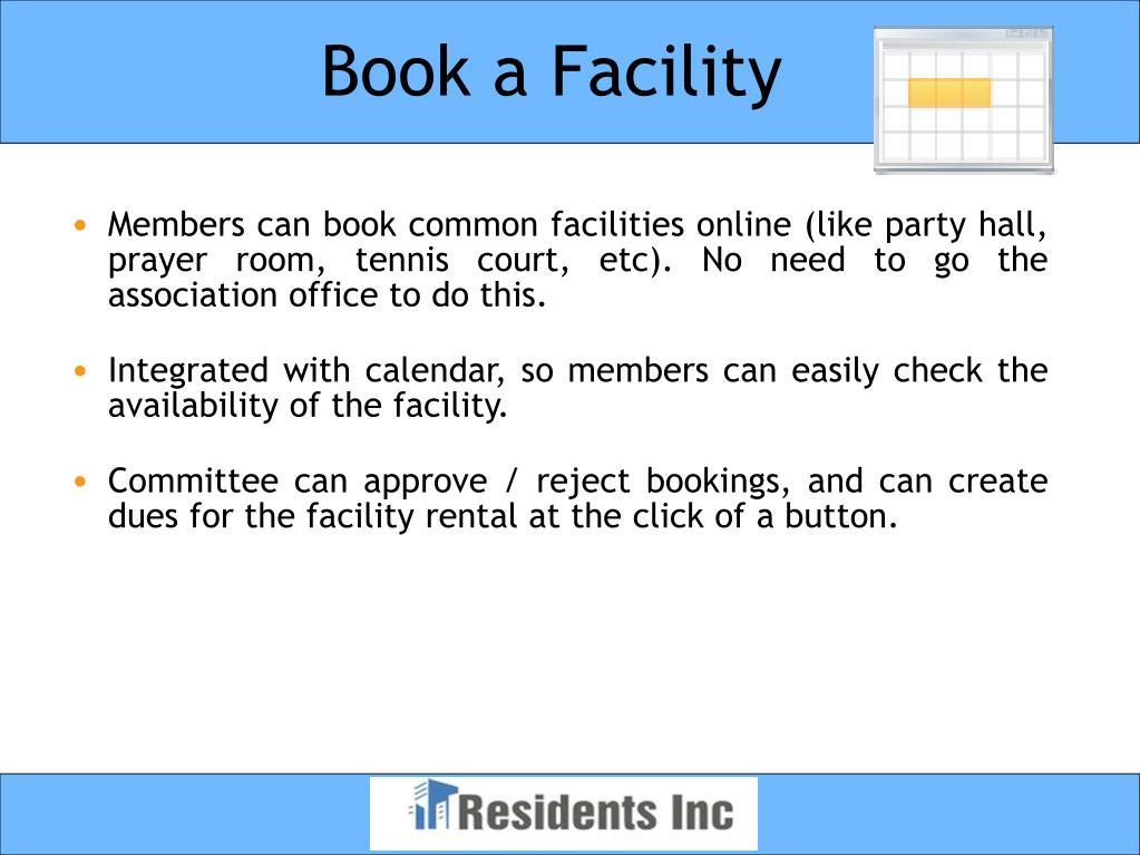 Book a Facility