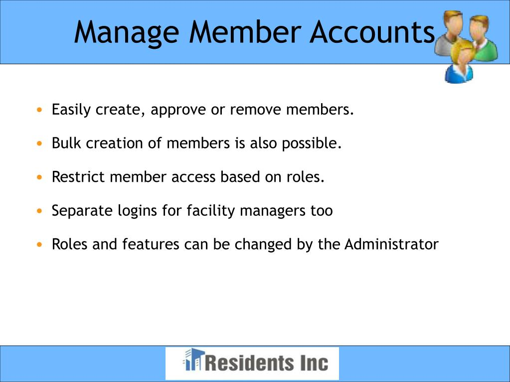 Manage Member Accounts