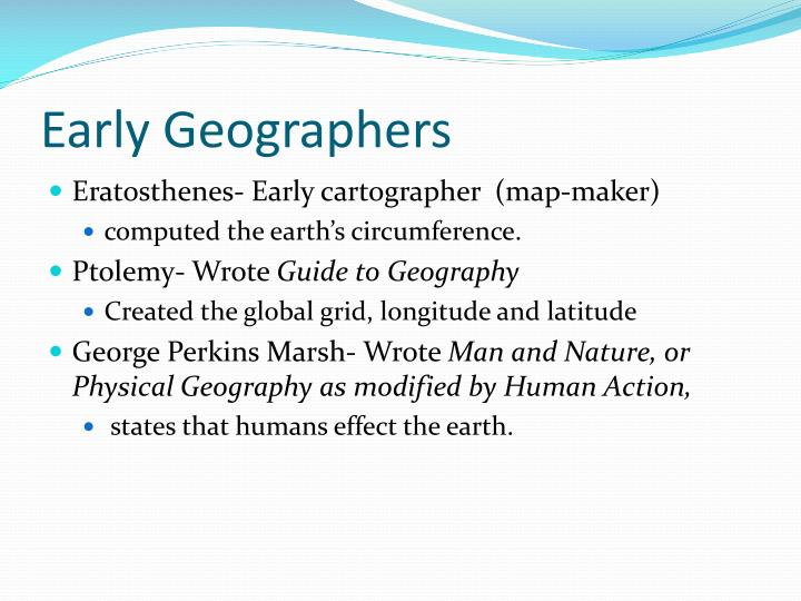 Early Geographers