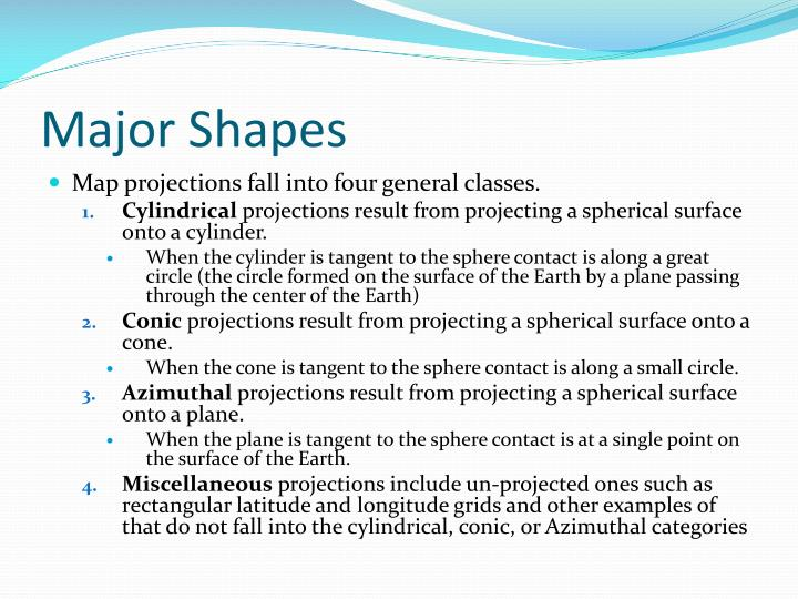 Major Shapes