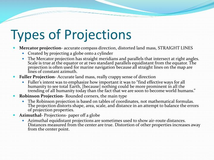 Types of Projections