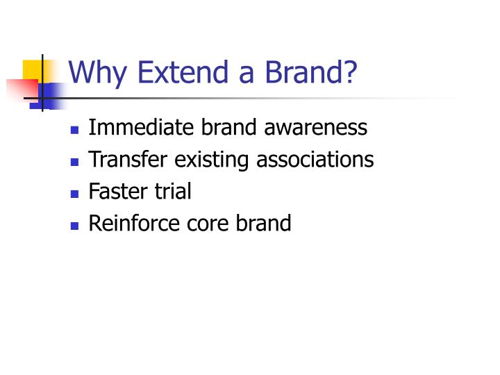 Why Extend a Brand?