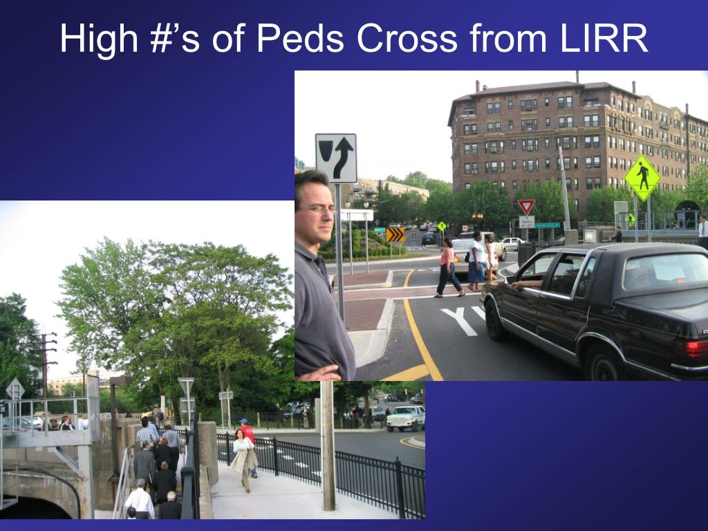 High #'s of Peds Cross from LIRR