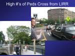 high s of peds cross from lirr