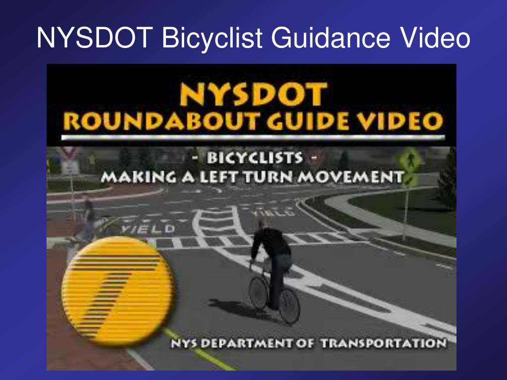 NYSDOT Bicyclist Guidance Video