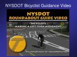 nysdot bicyclist guidance video